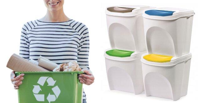 Koše na triedený odpad: 4×20 litrov v 2 farbách