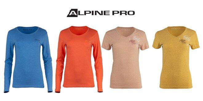 Dámske tričká Alpine Pro do mesta i prírody