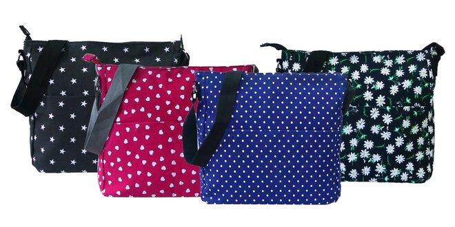 Praktická dámska crossbody taška: rôzne vzory a farby