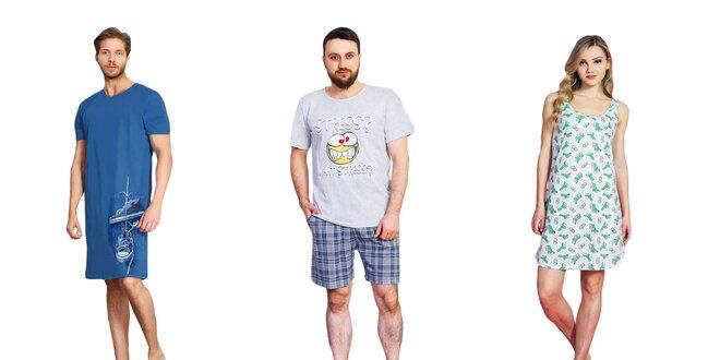Dámske aj pánske 2 dielne pyžamá či nočné košele