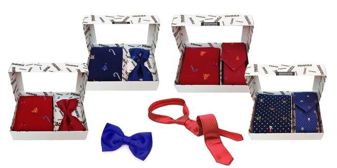 Vianočný bláznivý set: ponožky + motýlik či kravata