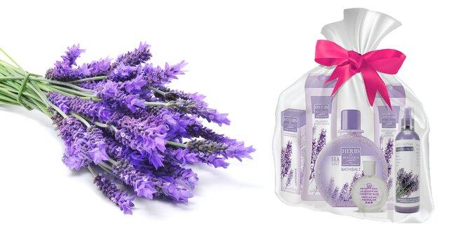 Darčekový balíček voňavej levanduľovej kozmetiky
