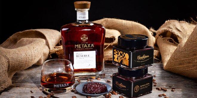Višňový džem s výberovou kávou a Metaxou Private Reserva