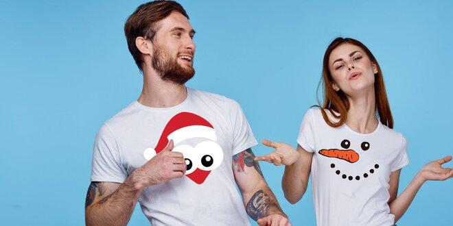 Veselé zimné tričká: dámske i pánske