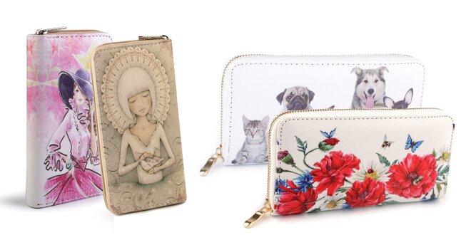Krásne dámske peňaženky s hravou či vintage potlačou