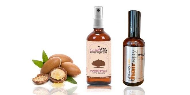 Prírodné arganové oleje na vlasy i pleť