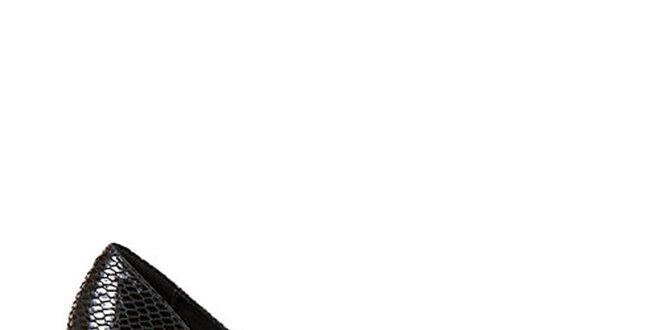 bd1b28187cf Dámske čierne hadie lodičky Steve Madden