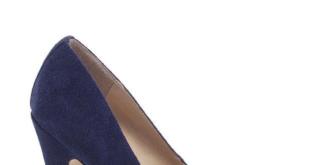 e519e948da54 Dámske tmavo modré lodičky s duhovou špičkou Steve Madden