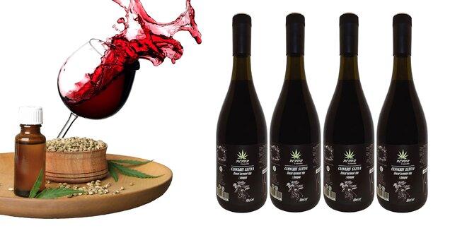 Ríbezľové víno s extraktom z konopy siatej