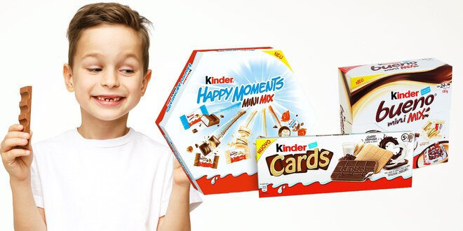 Lahodné Kinder čokolády