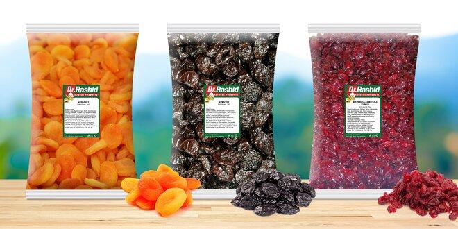 Balíčky sušeného ovocia: 7 rôznych druhov