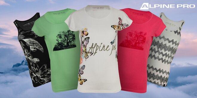 Dámske tričká a tielka Alpine Pro s potlačou