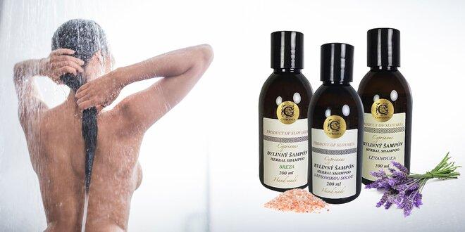 Blahodarné bylinné šampóny slovenskej výroby