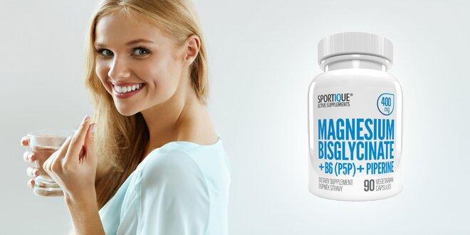 90 kapsúl Magnesium Bisglycinate + B6 + piperín