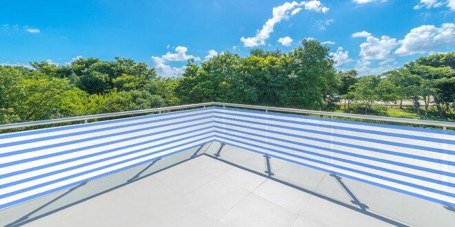 Balkónová roleta s jednoduchou aplikáciou i údržbou