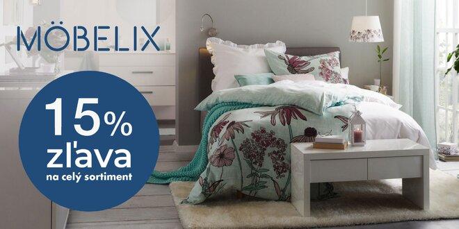 Möbelix: 15% zľava do online obchodu s nábytkom
