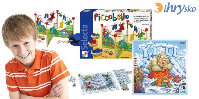 Detské či rodinné spoločenské hry od iHRYska