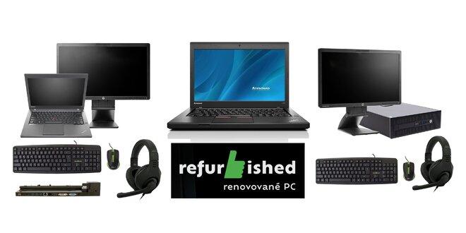Základ práce z domu - počítače Lenovo ThinkPad či HP ProDesk