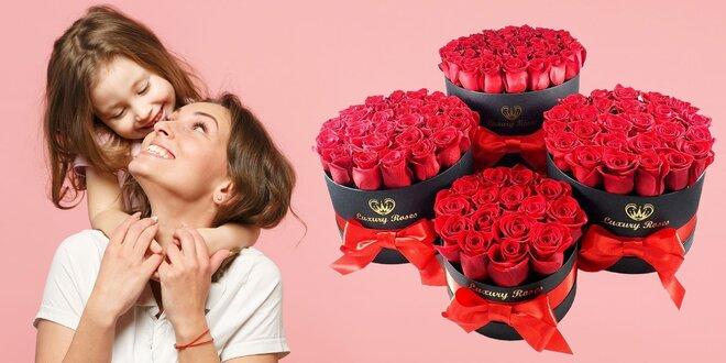 Darujte z lásky nádherné boxy plné ruží!