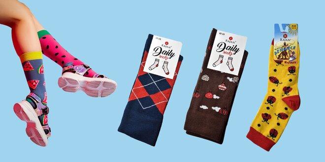 Veselé dámske, pánske a detské ponožky