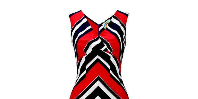 Dámske červeno-biele šaty s pruhmi Fever