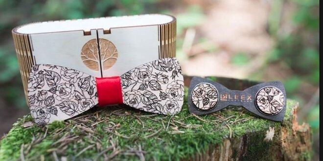 Originálne drevené motýliky i manžetové gombíky