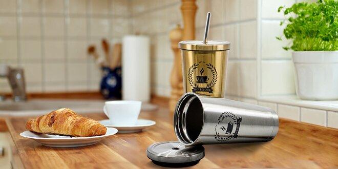 Štýlový termopohár so slamkou: na teplé a studené nápoje