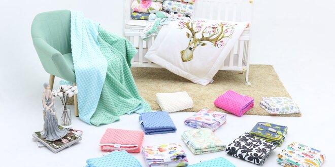 Kvalitné detské deky či podbradníky značky Minky