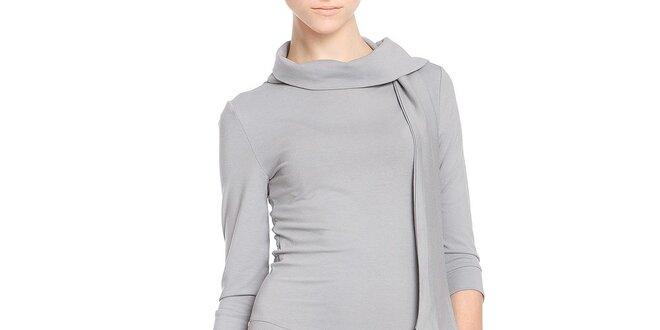 Dámske šedé šaty so šálkou Yuliya Babich