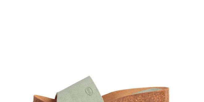 27c3e44aade4 Dámske mätové zelené semišové šľapky Dr. Scholl