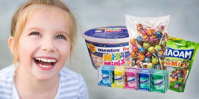 Veľké balenia cukroviniek Mentos, Maoam či Chupa Chups