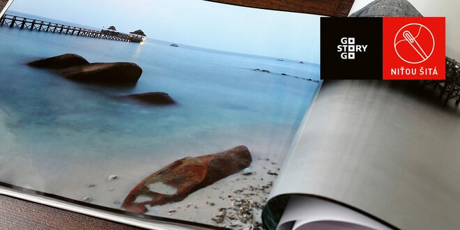 Prvotriedne niťou šité fotoknihy — A4 na výšku