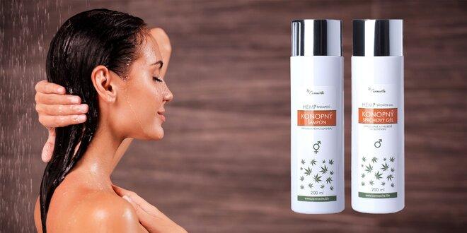 Konopné sprchové gély alebo šampón pre dámy aj pánov