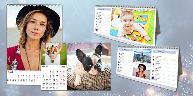 Nástenné i stolové fotokalendáre z vašich fotografií