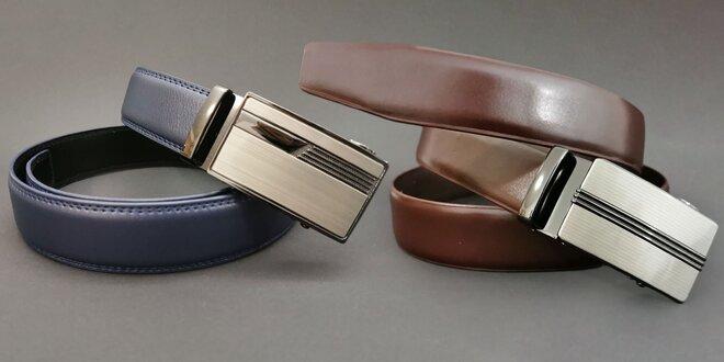 Pánske kožené opasky s automatickou prackou