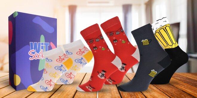 Darčekové sety veselých ponožiek pre dámy aj pánov