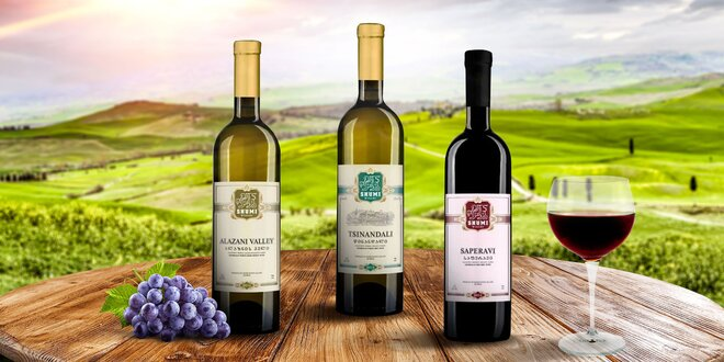 Ochutnajte sety lahodných gruzínskych vín