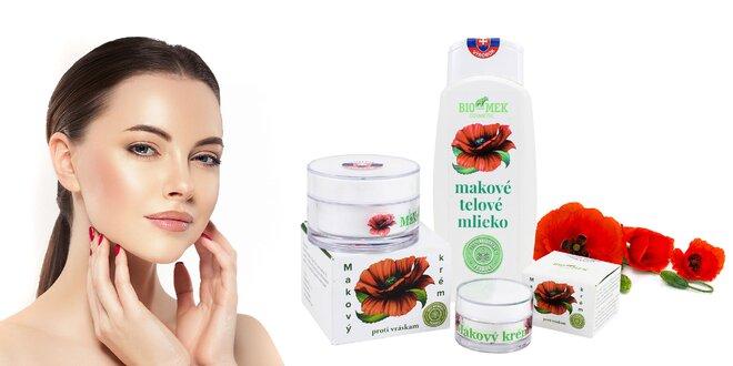 Makový krém proti vráskam či telové mlieko