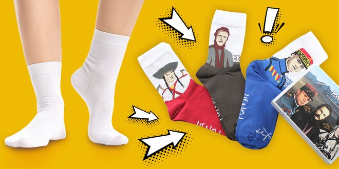 Slovenské ponožky Ponsh s originálnymi vzormi