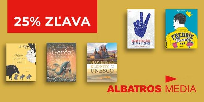 25% zľava na knihy z Albatrosu a doprava zdarma