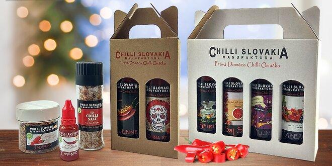 100% prírodné chilli omáčky, kvapky i korenia
