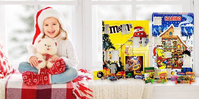 Sladké adventné kalendáre: Haribo, M&M's i Chupa Chups