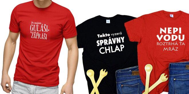 Pánske tričká s veselou potlačou