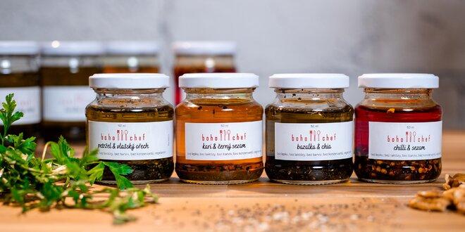 Ochutené domáce oleje z Česka: kari, chilli, bazalka i petržlen