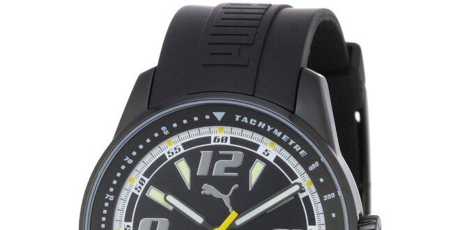 63b0801e2836a Pánske čierne oceľové hodinky Puma s gumovým náramkom | Zlavomat.sk