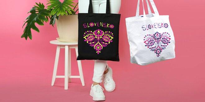 Štýlové tašky zo 100 % bavlny s folkovým motívom