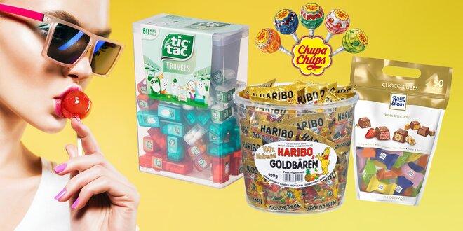 Obrovské balenia Tic Tac, Chupa Chups, Haribo i Ritter