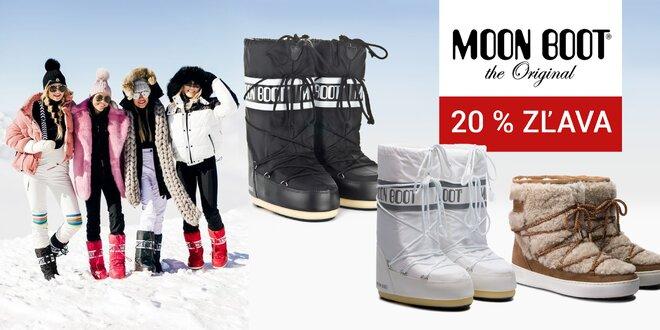 20 % zľava na zimnú obuv Moon Boot v EXIsport