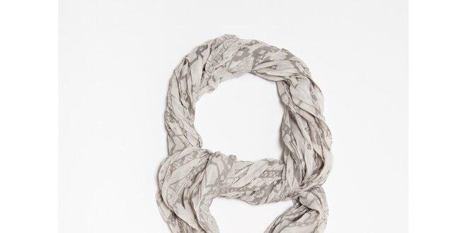 Dámska šedá šatka so vzorom Bella Rosa  454652a3e0