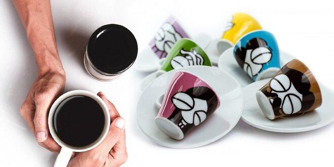 Balíčky zrnkovej kávy Julietta a sety šálok na espresso a cappuccino